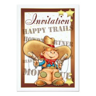 Invitation avec le cowboy - invitation de cowboy