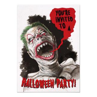 Invitation bilatérale de Halloween de clown