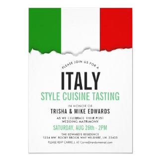 Invitation blanc de la cuisine | de l'Italie de
