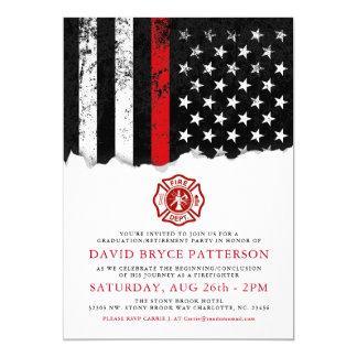 Invitation blanc de partie de drapeau américain de