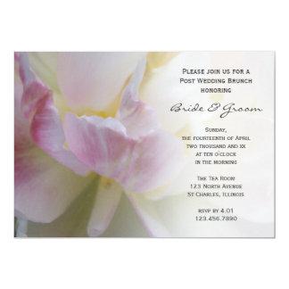 Invitation blanc rose de brunch de mariage de