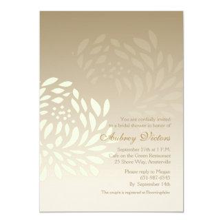 Invitation blanche de chrysanthème