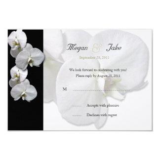 Invitation blanche de l'orchidée RSVP