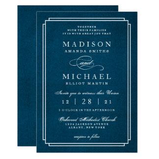 Invitation blanche de manuscrit de mariage moderne