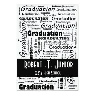 invitation blanche d'obtention du diplôme de noir