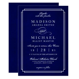 Invitation blanche élégante de manuscrit de