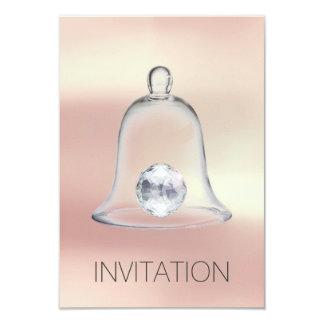 Invitation blanche en cristal de la partie VIP de