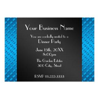 Invitation bleue d affaires de pois