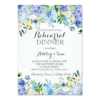 Invitation bleue de douche d'hortensia