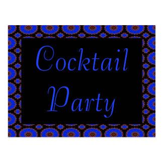 invitation bleue de fleur de cocktail