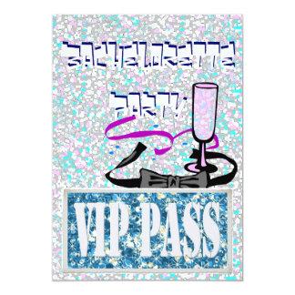 Invitation bleue de partie de Bachelorette VIP