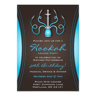 Invitation bleue de partie de narguilé de Holi