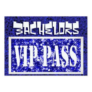 Invitation bleue de partie des célibataires VIP