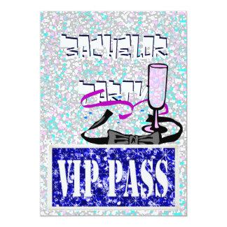 Invitation bleue de partie du célibataire VIP