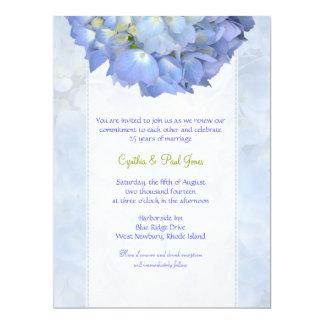 Invitation bleue de renouvellement de voeu