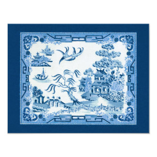 Invitation bleue de saule