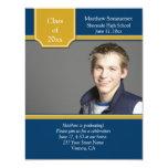 Invitation bleue d'obtention du diplôme de photo
