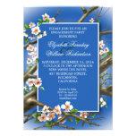 invitation bleue élégante de partie de fiançailles