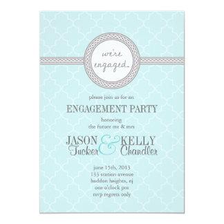 Invitation bleue et grise de Tiffany de