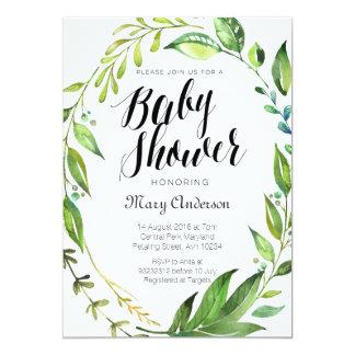 Invitation botanique lunatique de baby shower