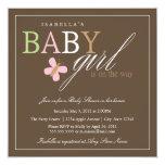 Invitation carré de baby shower du bébé | carton d'invitation  13,33 cm