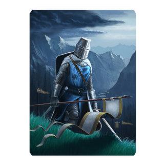 Invitation/carte postale de chevalier carton d'invitation  12,7 cm x 17,78 cm