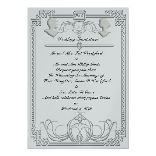 invitation celtique de noces de diamant de glace - Poeme 60 Ans De Mariage Noces De Diamant