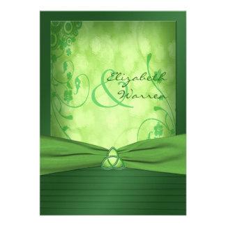 Invitation celtique de noeud d amour du jour de St