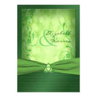 Invitation celtique de noeud d'amour du jour de St