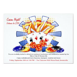 Invitation chanceuse de nuit de casino