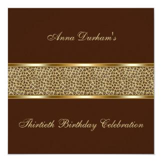 Invitation chic de poster de animal [léopard -