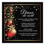 Invitation chique de fête de Noël