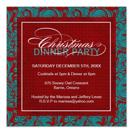Invitation chique de fête de Noël Carton D'invitation 13,33 Cm