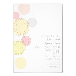 Invitation coloré de mariage de jardin de