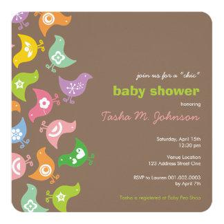 Invitation coloré de partie de baby shower de