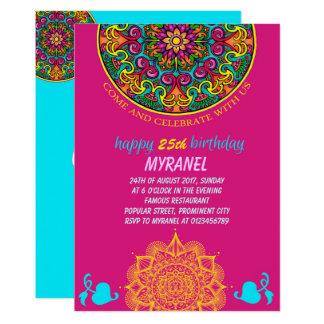 Invitations faire part bollywood personnalis s - Mandala anniversaire ...