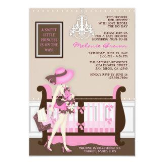 Invitation contemporain de baby shower de maman