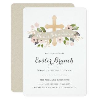 Invitation croisée florale de Pâques