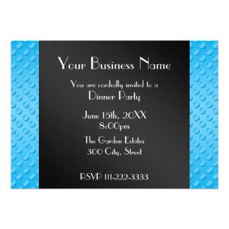 Invitation d affaires de pois de bleu de ciel
