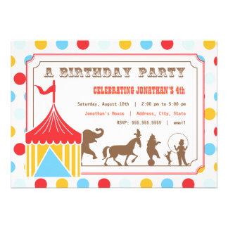 Invitation d anniversaire de enfant - cirque