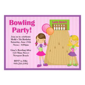 Invitation d anniversaire de partie de bowling pou