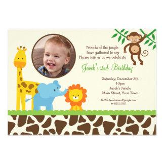 Invitation d anniversaire de photo de safari de ju