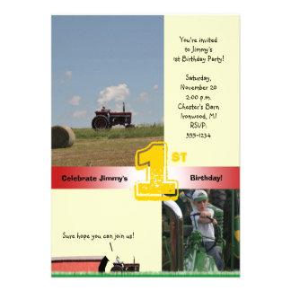 Invitation d anniversaire de tracteur Tracteur i