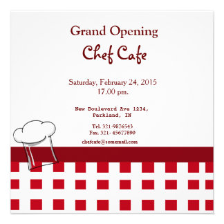 Invitation d ouverture officielle de café