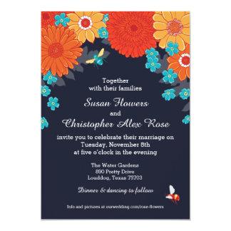 Invitation d'abeilles et de fleurs