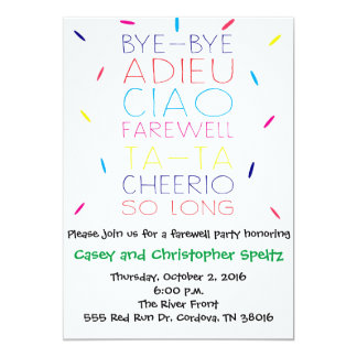 Invitation d'adieu