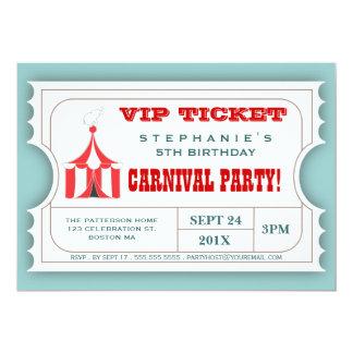 Invitation d'admission de billet de partie de carton d'invitation  12,7 cm x 17,78 cm