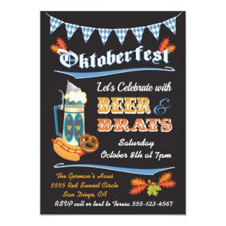 Invitation d'affiche de partie d'Oktoberfest