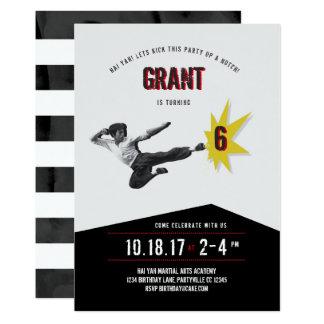 Invitation d'anniversaire d'arts martiaux