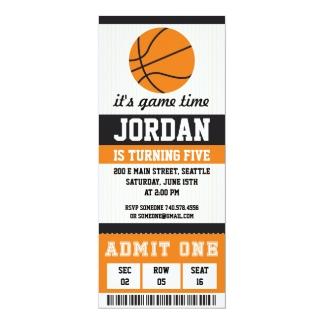 Extrêmement Invitations & Faire-part Anniversaire De Basket Ball personnalisés  EF91